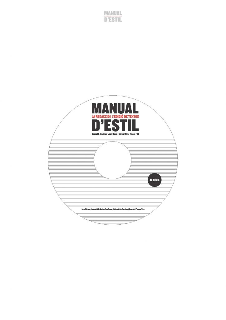 CD-ROM del Manual d'estil